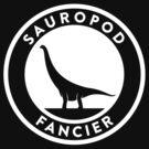 Sauropod Fancier (White on Dark) by David Orr
