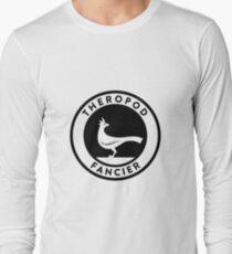 Theropod Fancier (Black on Light) Long Sleeve T-Shirt