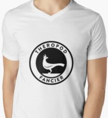 Theropod Fancier (Black on Light) Mens V-Neck T-Shirt
