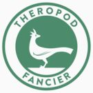 Theropod Fancier (Teal on White) by David Orr