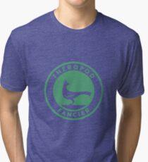 Theropod Fancier (Teal on White) Tri-blend T-Shirt