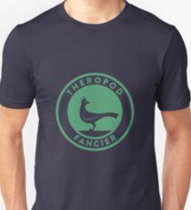 Theropod Fancier (Teal on White) Unisex T-Shirt
