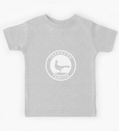 Theropod Fancier (White on Dark) Kids Clothes