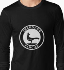 Theropod Fancier (White on Dark) Long Sleeve T-Shirt