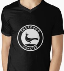 Theropod Fancier (White on Dark) Men's V-Neck T-Shirt
