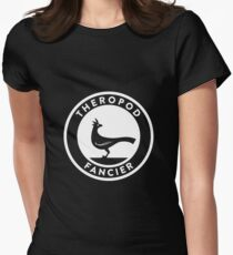 Theropod Fancier (White on Dark) Womens Fitted T-Shirt