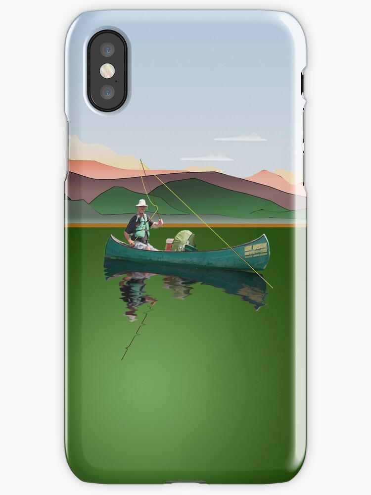 Phone case: Canoe Fishing by Steven House