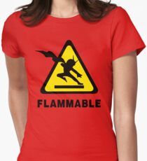 Flammable Joe Womens Fitted T-Shirt