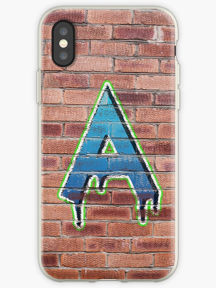 Graffiti Printed Letter A on wall by jackhickling