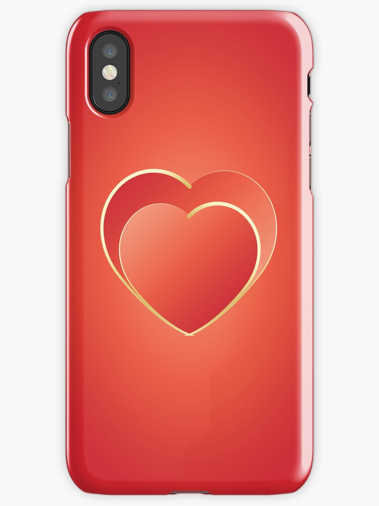 2 hearts iPhone by feiermar