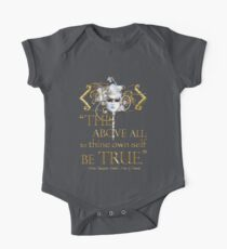 """Shakespeare Hamlet """"own self be true"""" Quote Kids Clothes"""
