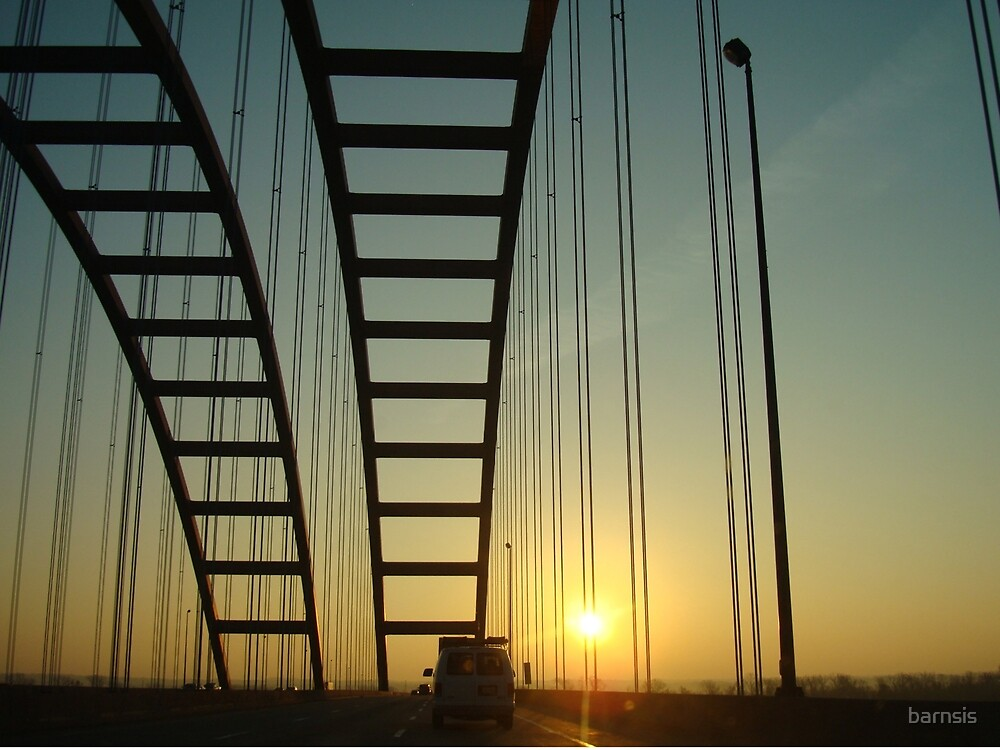 Sunrise on the Jefferson Barracks Bridge by barnsis