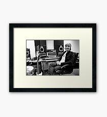 In the studio Framed Print