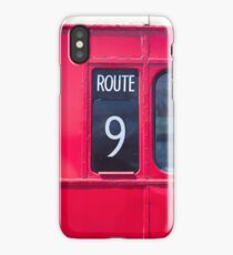 Route master London bus number 9 iPhone Case