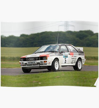 Audi Quattro rally car Mikkola Poster