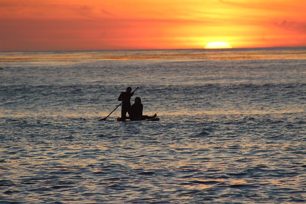 Sunset Surfing by Murad Abel