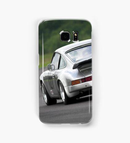 Silver Porsche 911 racing car Samsung Galaxy Case/Skin