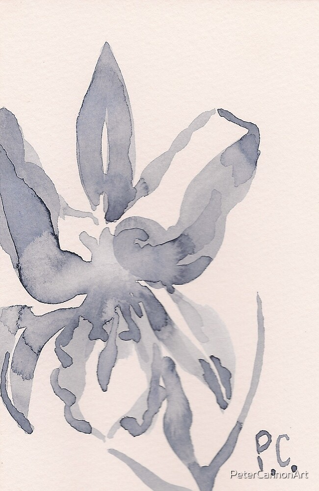 indigo brushstroke #2 by PeterCannonArt