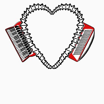Accordion Heart Motif - International Version! by juliethebruce