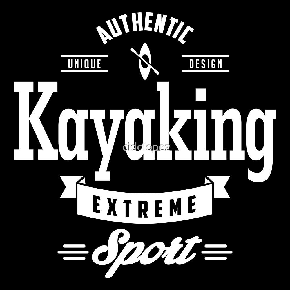 Kayaking Extreme Sport White Art by cidolopez