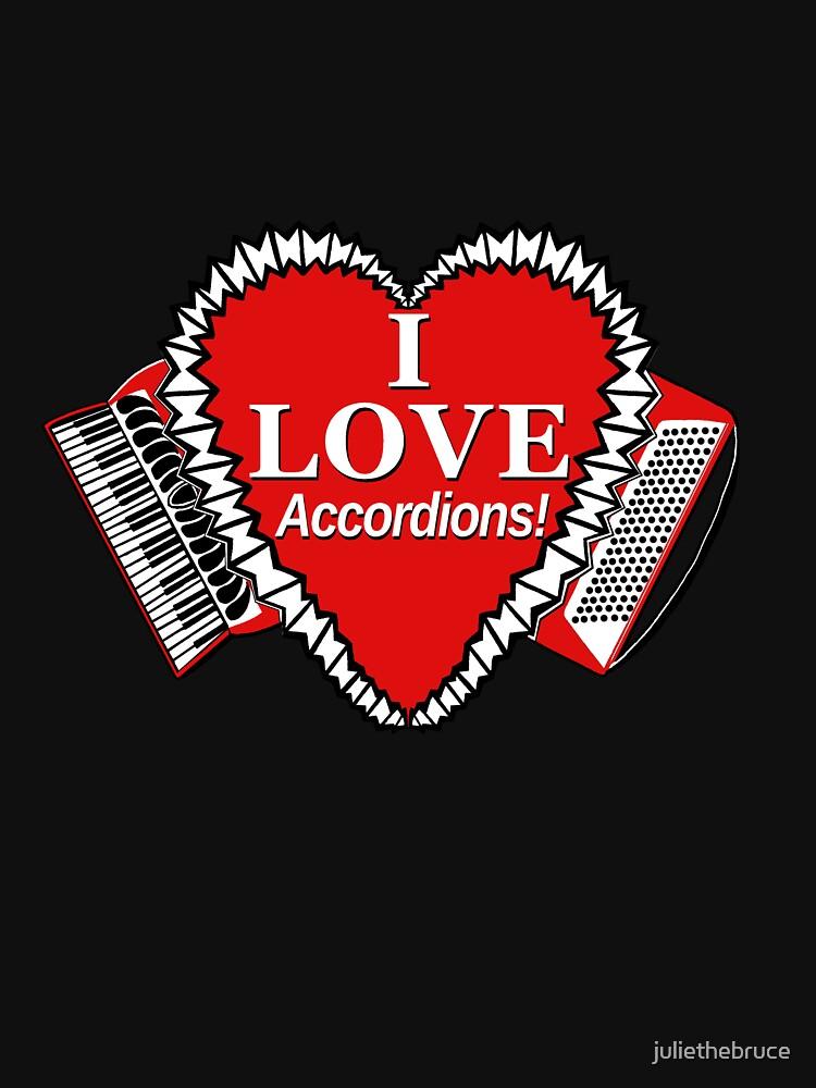 I Love Accordions Heart Motif! by juliethebruce