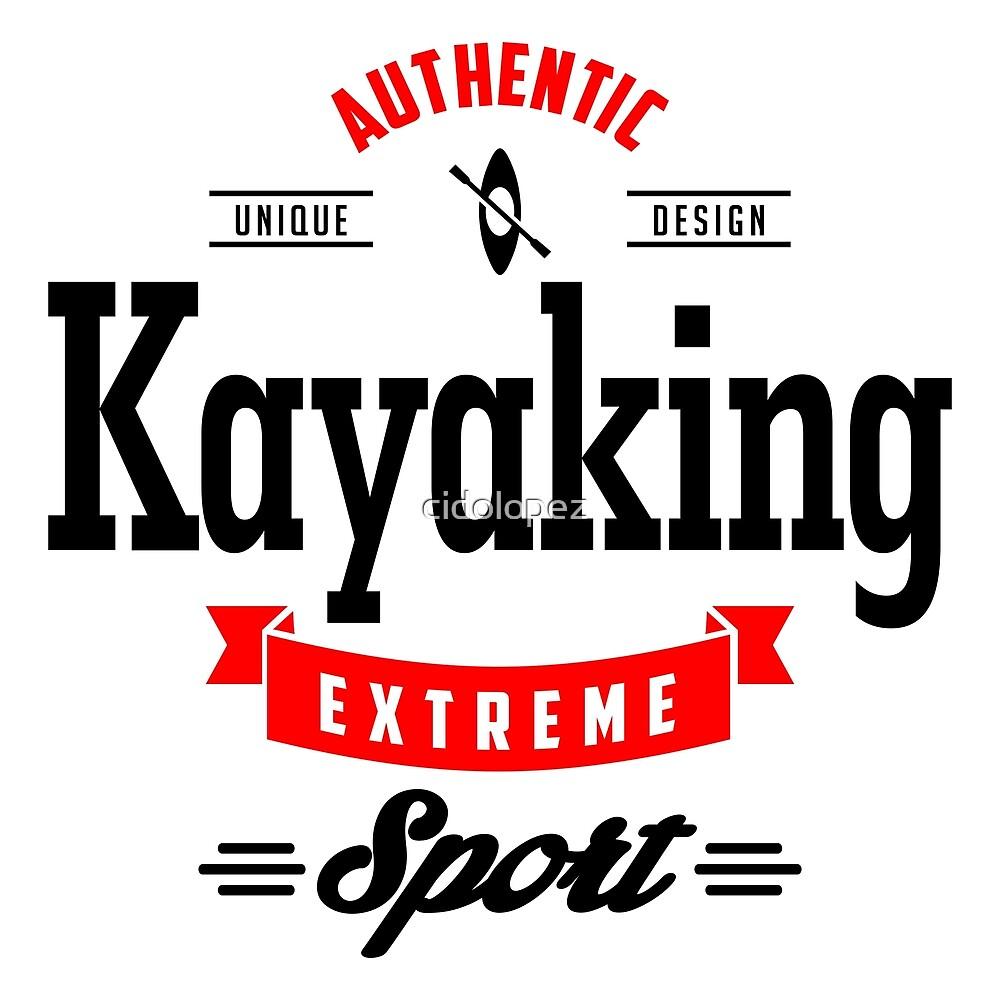 Kayaking Extreme Sport B&R Art by cidolopez