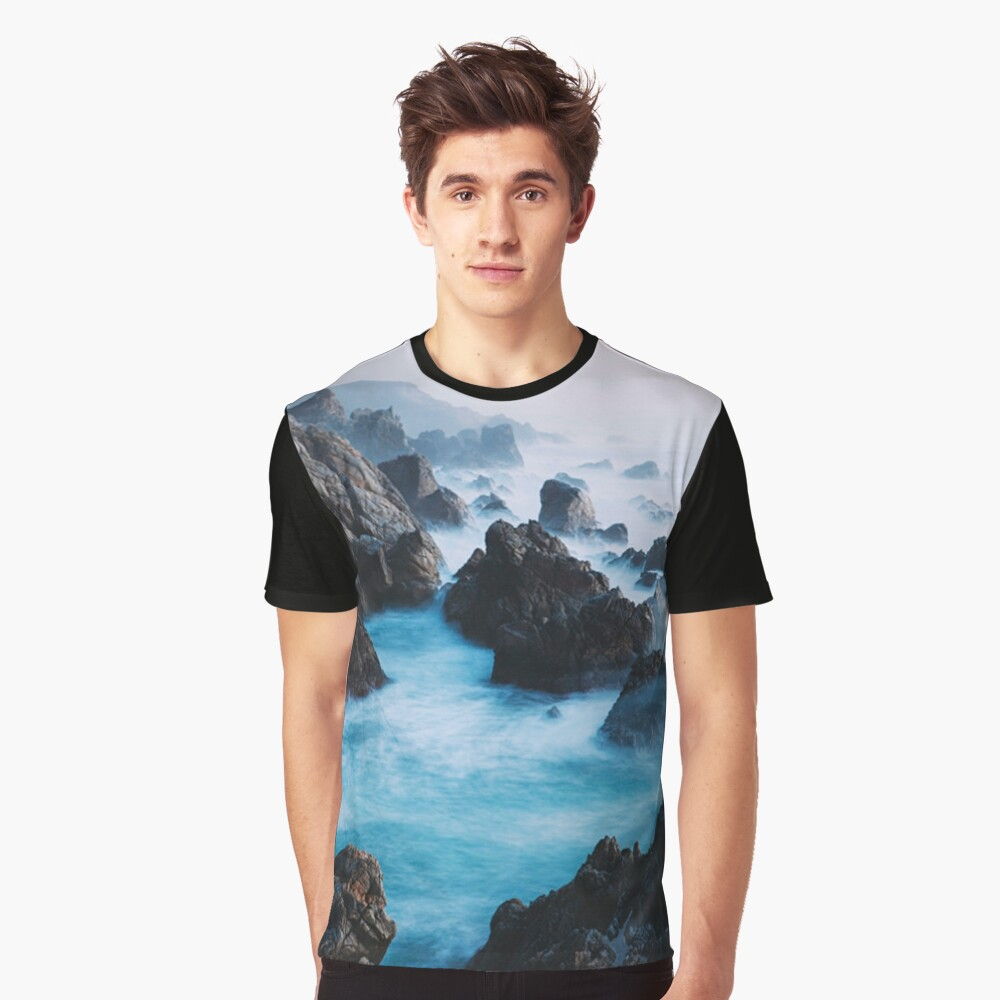 Rocky Fog Graphic T-Shirt Front