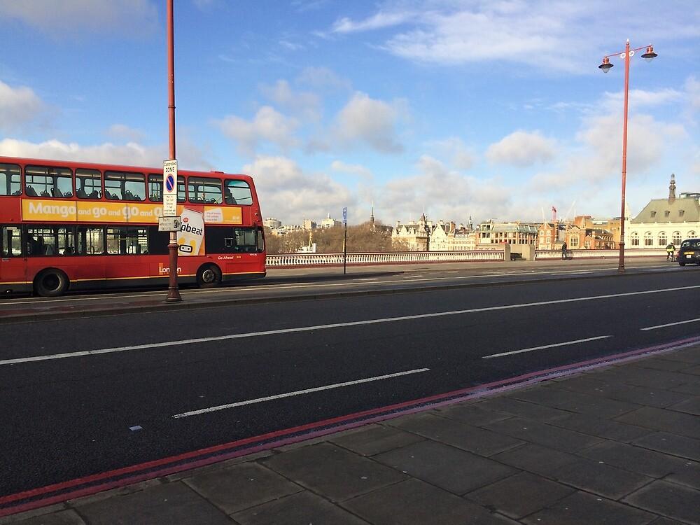 London Bus on Blackfriars Bridge by Msheldrake