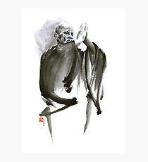 Morihei Ueshiba Sensei Aikido martial arts art japan japanese master sum-e portrait founder Fotodruck