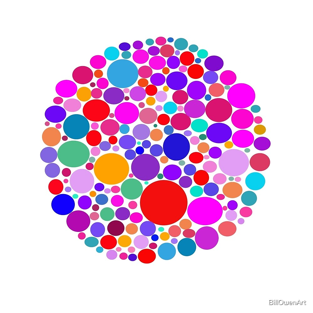 Dots Abstract by BillOwenArt
