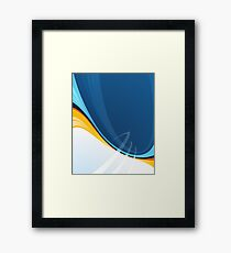 Techno Blue Abstract Pop Graphic Framed Print