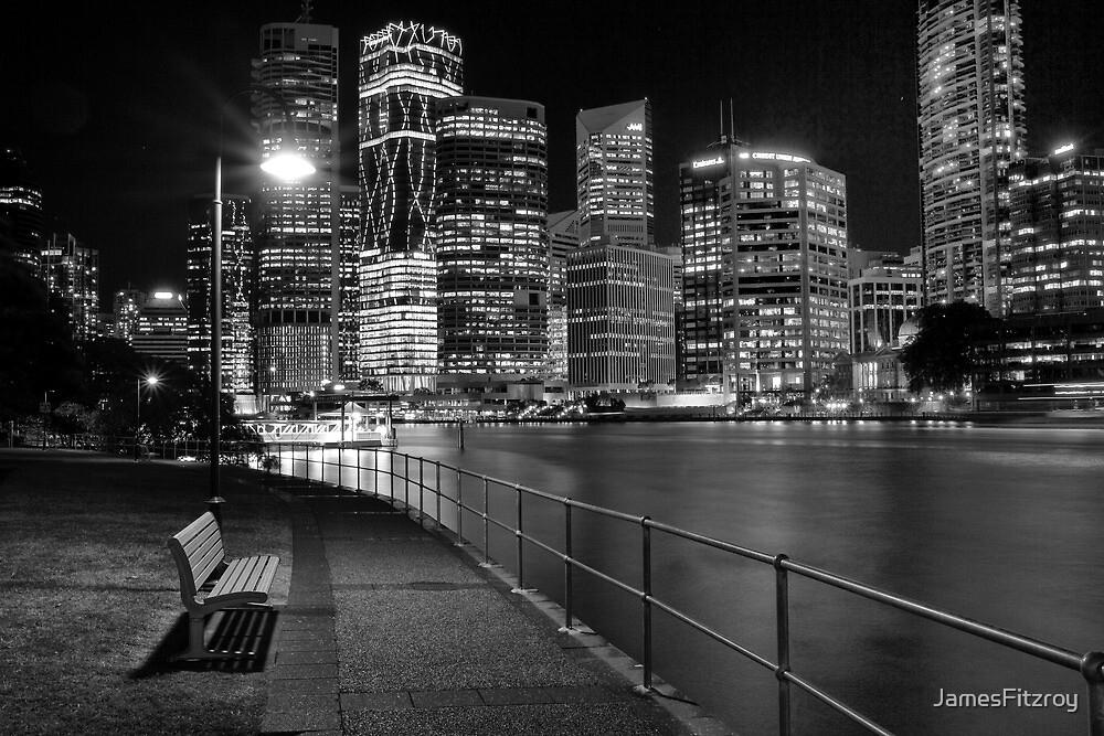 Brisbane at Night by JamesFitzroy