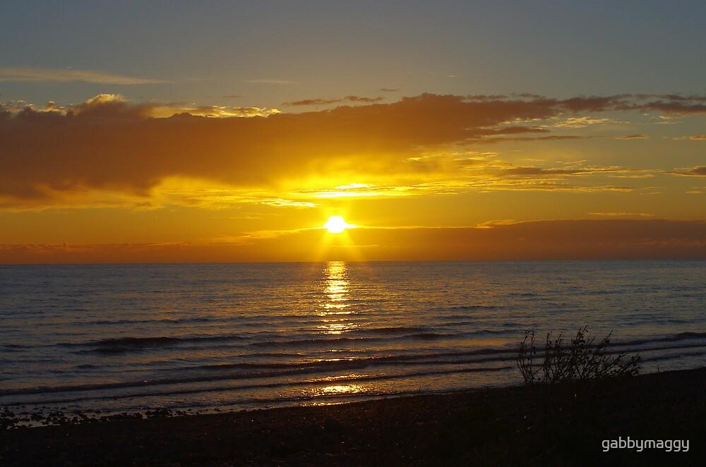 sunset over walney by gabbymaggy