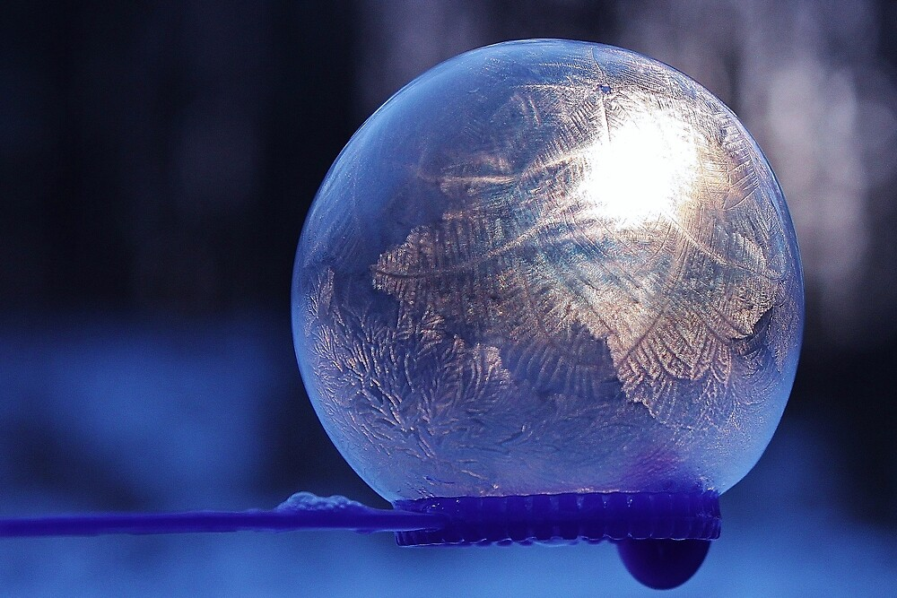 Frozen Bubble - Cool Blue by Lindy Gower