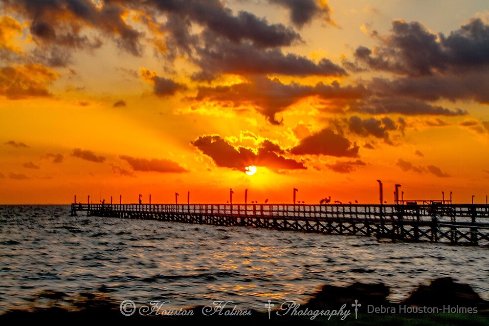 Sonrise Pier by Debra Houston-Holmes