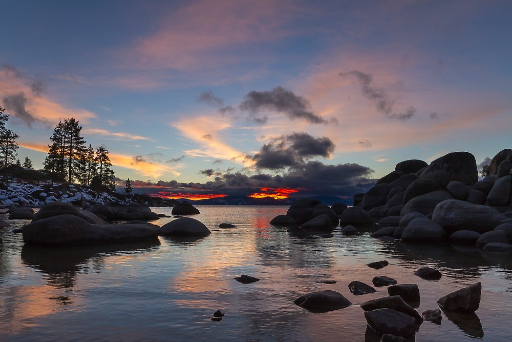 Colorful Dusk - Sand Harbor  by Richard Thelen