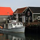 Peaceful Sandford Fishing Boat Scene by Debbie  Roberts