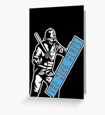 Riot Police King Blues Greeting Card
