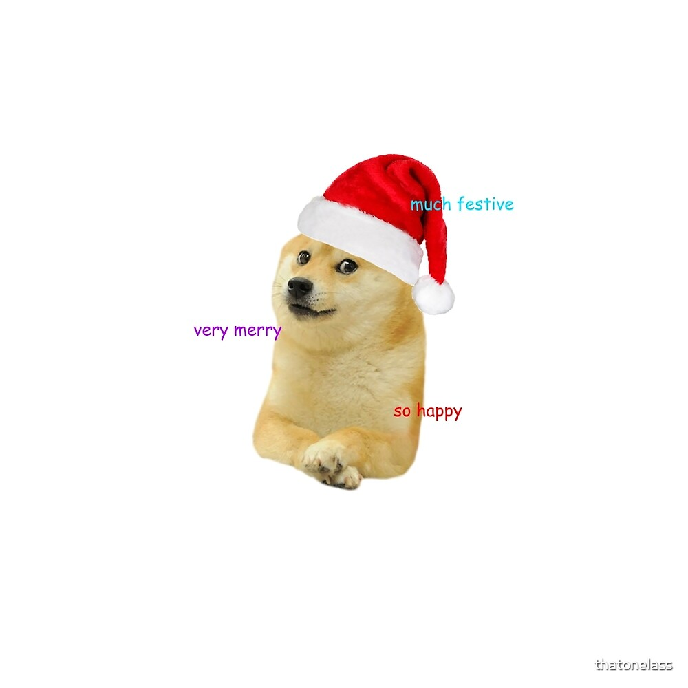 Christmas Doge by thatonelass