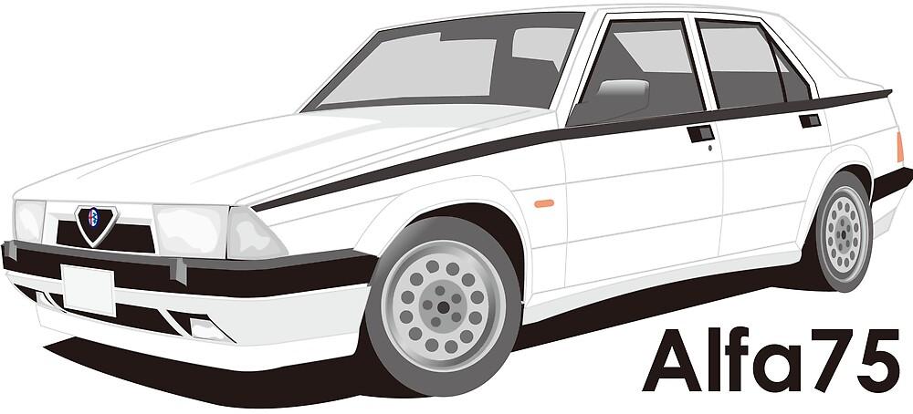 alfaromeo 75 twinspark (white) by scuderiaacero