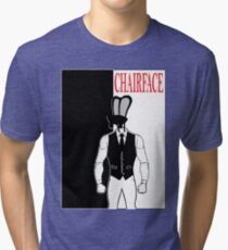 The Tick chairface scarface Tri-blend T-Shirt