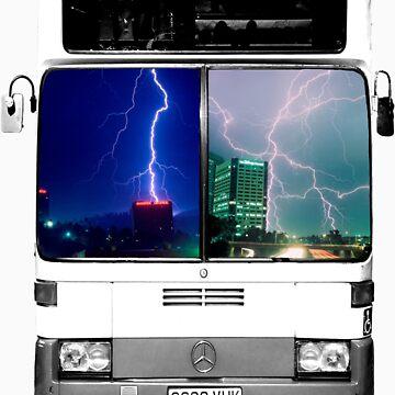 Lightning Bus T-Shirt by TheWebFerret