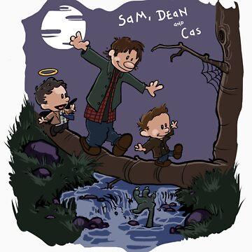 Sam, Dean, and Cas by kikaisaigono