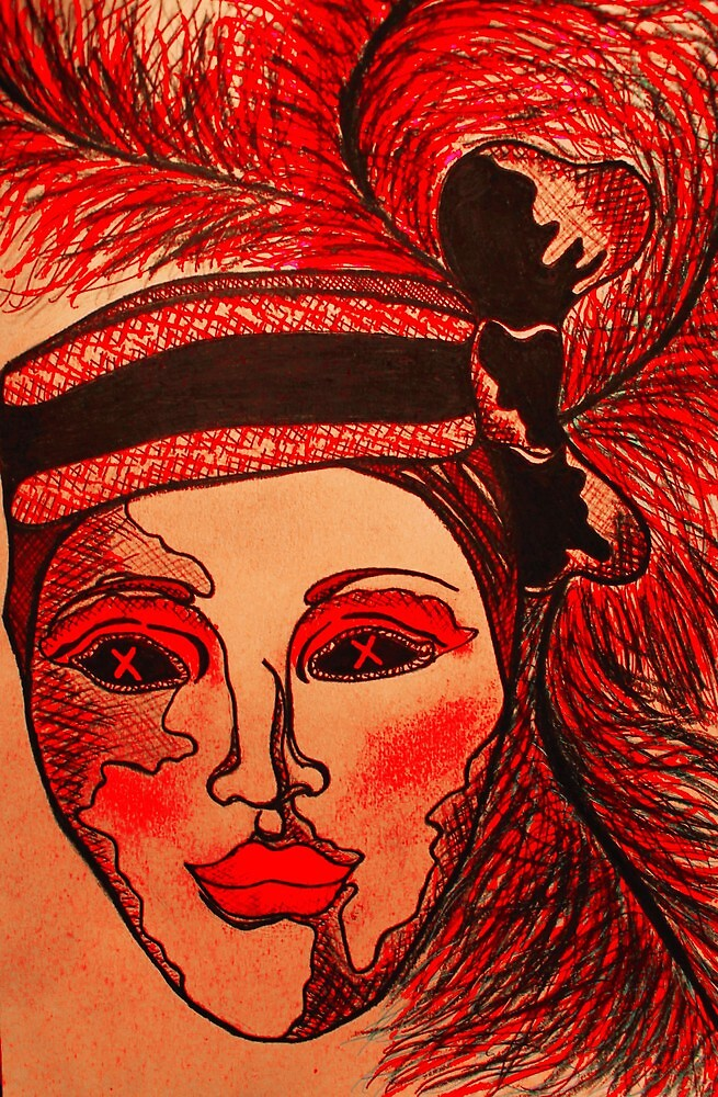 Masquerade Woman Bright by Amber Batten