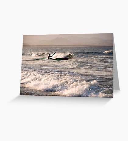 Paddling Out Greeting Card