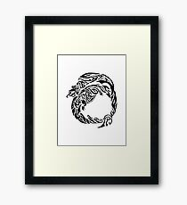 Charizard Tribal Framed Print