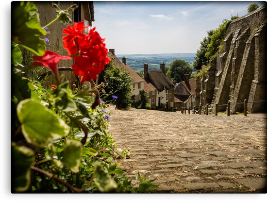 Gold Hill Shaftesbury England by mlphoto