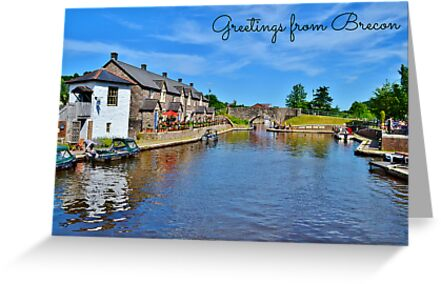 Brecon Postcard or Greeting Card by Paula J James