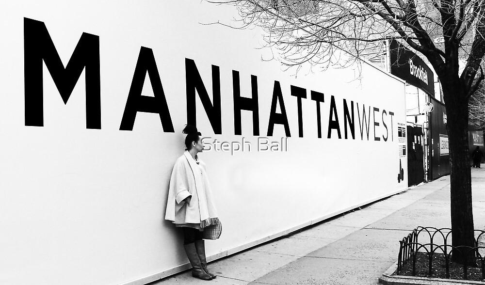 Manhattan billboard, NYC by Steph Ball