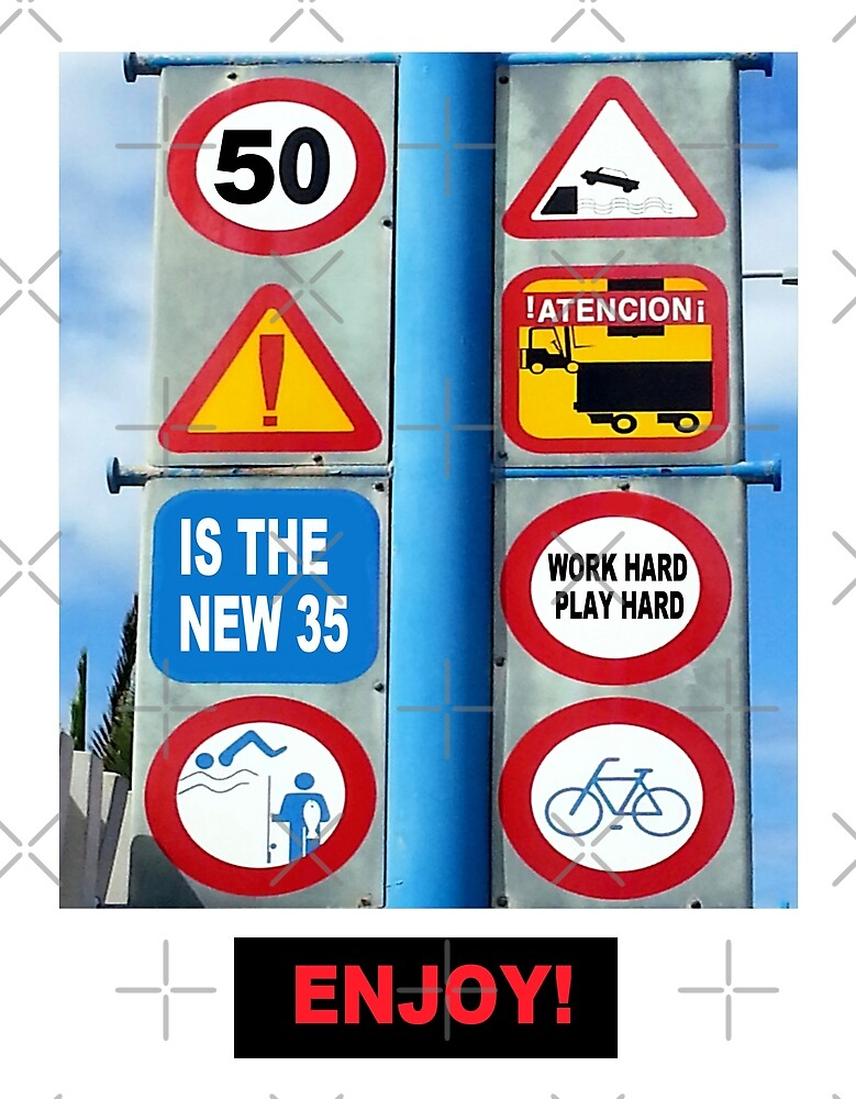 Road Sign 50 by Artisimo